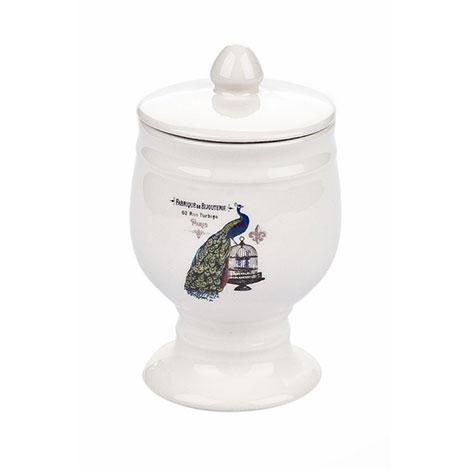 Limbo Home Tavus Kuşu Desenli Pamukluk - 13x8 cm