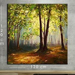 Modacanvas KR8 Mega Dijital Yağlı Boya Tablo - 120x120 cm