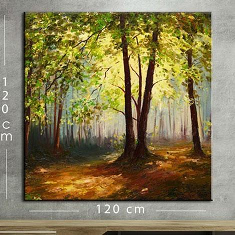 Resim  Modacanvas KR8 Mega Dijital Yağlı Boya Tablo - 120x120 cm