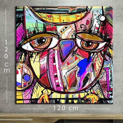 Resim  Modacanvas KR20 Mega Dijital Yağlı Boya Tablo - 120x120 cm