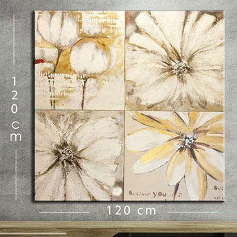 Resim  Modacanvas KR87 Mega Dijital Yağlı Boya Tablo - 120x120 cm