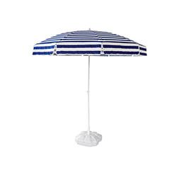 Just Home Pamuklu Çizgili Kumaş Bahçe Şemsiyesi (Mavi/Beyaz) - 2 metre