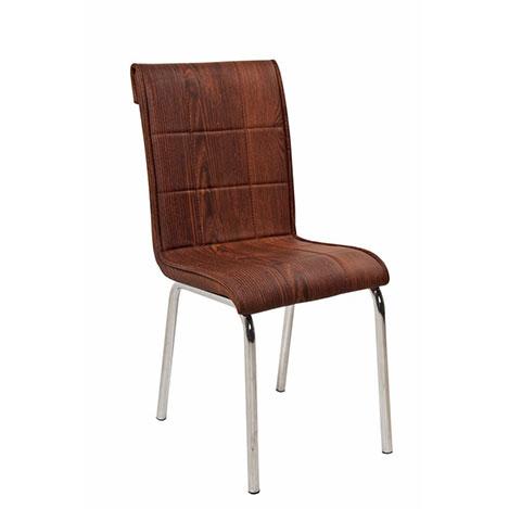 Resim  Kristal P-45 Monopetli Ahşap Desen Sandalye - Kahverengi