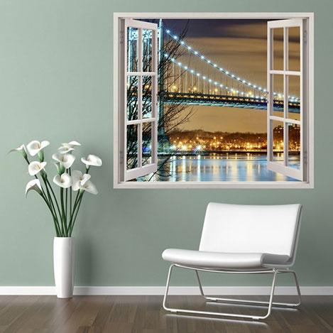 Supersticx PPC5 3 Boyutlu Pencere Sticker - 75x60 cm