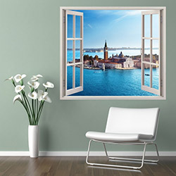 Supersticx PPC9 3 Boyutlu Pencere Sticker - 75x60 cm