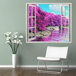 Supersticx PPC11 3 Boyutlu Pencere Sticker - 75x60 cm