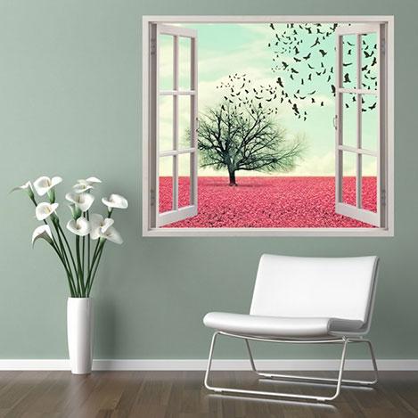 Supersticx PPC15 3 Boyutlu Pencere Sticker - 75x60 cm