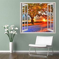 Supersticx PPC69 3 Boyutlu Pencere Sticker - 75x60 cm