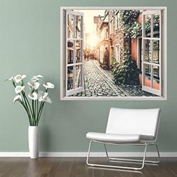 Supersticx PPC88 3 Boyutlu Pencere Sticker - 75x60 cm