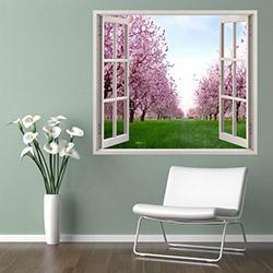 Supersticx PPC94 3 Boyutlu Pencere Sticker - 75x60 cm