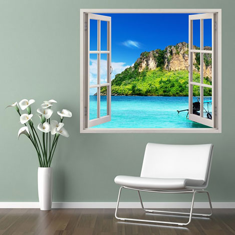 Supersticx PPC95 3 Boyutlu Pencere Sticker - 75x60 cm