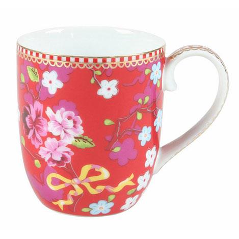 Resim  Pip Studio Çiçek Desenli Mug - Pembe