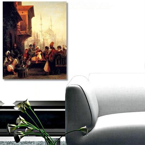 Resim  Tictac Oryantal Kanvas Tablo - 50x75 cm