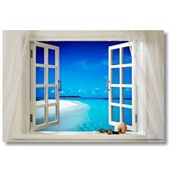 Tictac TT1-79 Pencere Kanvas Tablo - 50x75 cm