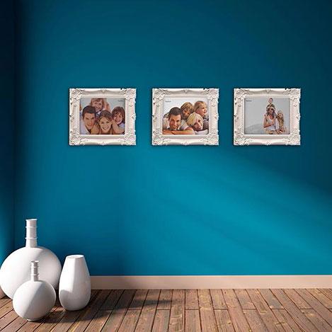 Resim  Just Home 3'lü Büyük Çerçeve Seti - Beyaz