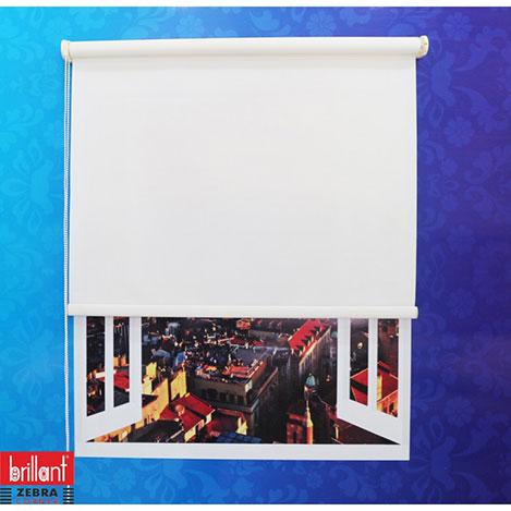 Brillant Stor Perde (Beyaz) - 100x200 cm
