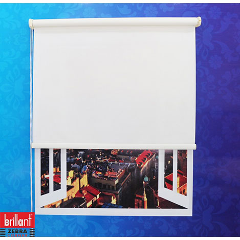 Resim  Brillant Stor Perde (Beyaz) - 120x200 cm
