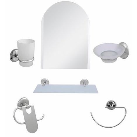 Resim  Alper Banyo Kubbeli 6'lı G-Havluluklu Aynalı Banyo Seti