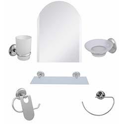 Alper Banyo Kubbeli 6'lı G-Havluluklu Aynalı Banyo Seti