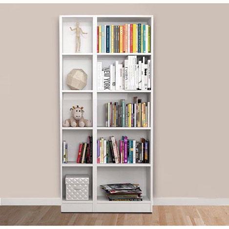 Resim  House Line 10 Raflı Kitaplık - Beyaz