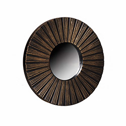 Just Home 3'lü Eskitme Dekoratif  Ayna -  Siyah