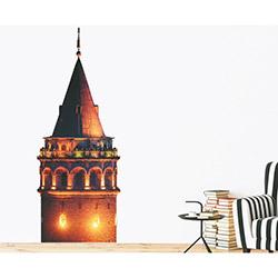 Supersticx Dew3 Galata Kulesi Duvar Sticker - 130x50 cm
