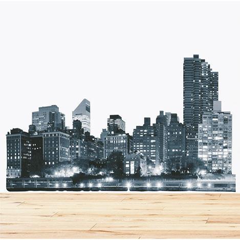 Supersticx Dew38 Şehir Duvar Sticker - 130x90 cm