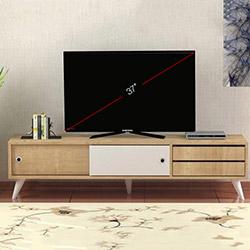 Minar Eduardo Tv Ünitesi - Safir Meşe / Beyaz