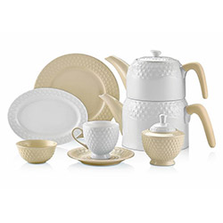Schafer 34 Parça Eden Collection Kahvaltı Takımı - Krem