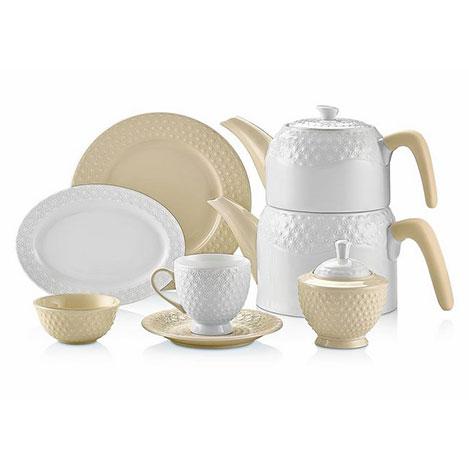 Resim  Schafer 34 Parça Eden Collection Kahvaltı Takımı - Krem