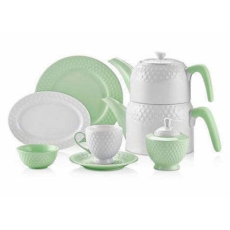 Schafer 34 Parça Eden Collection Kahvaltı Takımı - Yeşil