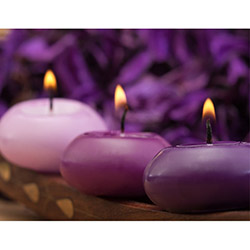 Duvar Tasarım DLC 1006 Candle Led Canvas Tablo - 70x50 cm