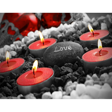 Duvar Tasarım DLC 1045 Candle Led Canvas Tablo - 70x50 cm