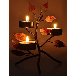 Duvar Tasarım DLC 1076 Candle Led Canvas Tablo - 70x50 cm