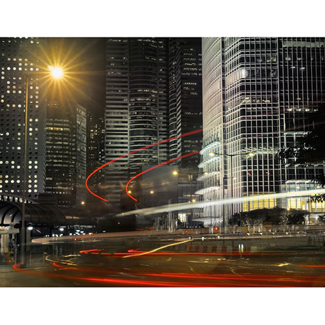 Duvar Tasarım DLC 1146 City & Mix Led Kanvas Tablo  - 50x70 cm