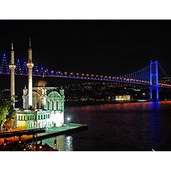 Duvar Tasarım DLC 1174 City & Mix Led Kanvas Tablo  - 50x70 cm