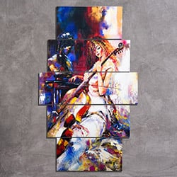 K Dekorasyon KM-5P 2367 Mdf Tablo - 5 Parçalı