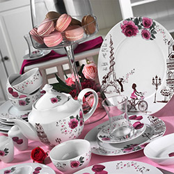 Kütahya Porselen 43 Parça Leonberg 8918 Desen Kahvaltı Takımı