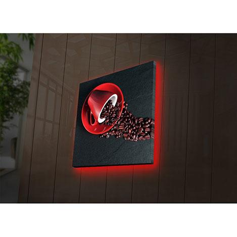 Özgül 4040DACT-30 Aydınlatmalı Kanvas Tablo - 40x40 cm