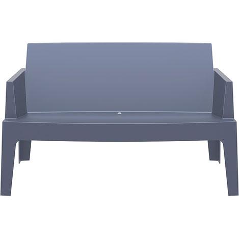 Resim  Siesta Box Sofa İkili Koltuk - Koyu Gri