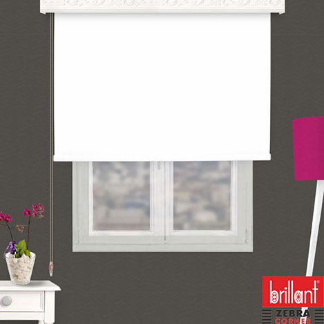 Resim  Brillant 782178 Stor Perde (Beyaz) - 110x200 cm