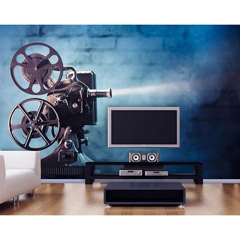 Artmodel Sinema Makinesi Poster Duvar Kağıdı - 390x270 cm