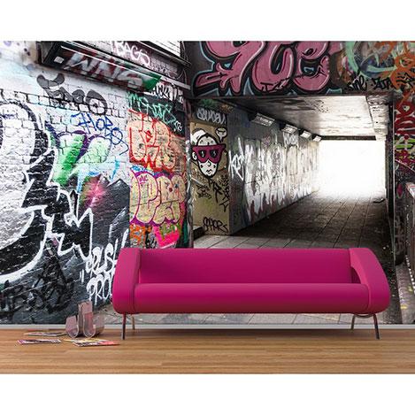 Resim  Artmodel PDA-25 Graffiti Poster Duvar Kağıdı - 390x270 cm