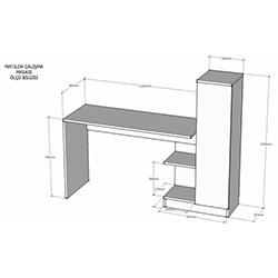 House Line Matilda Çalışma Masası - Beyaz