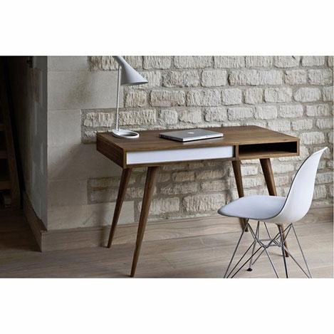 Te Home Retro Çalışma Masası - Ceviz / Beyaz
