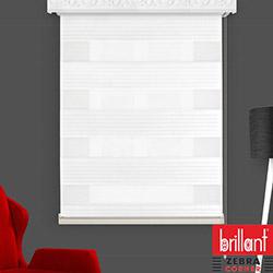 Brillant 93155 Pliseli Zebra Perde (Beyaz) - 200x260 cm