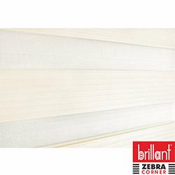 Brillant 93545 Etek Dilim Pliseli Zebra Perde (Krem) - 100x200 cm