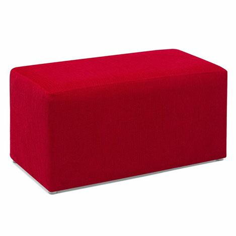 Resim  Evdebiz Kırmızı Uzun Puf - Kırmızı