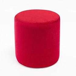 Evdebiz Kırmızı Silindir Puf - Kırmızı