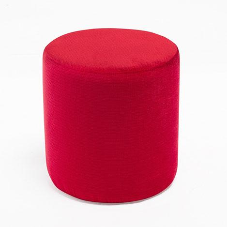 Resim  Evdebiz Kırmızı Silindir Puf - Kırmızı
